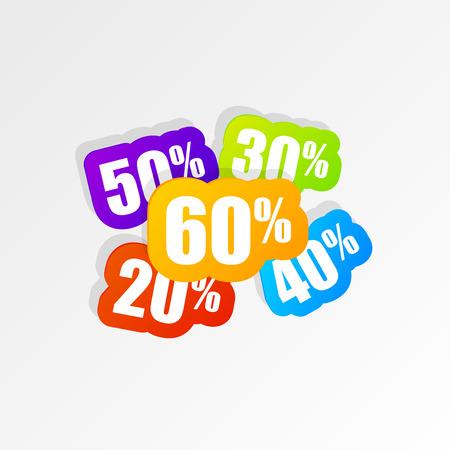 half price: Discount price tags. Sale banner. Modern design. Vector illustration Illustration