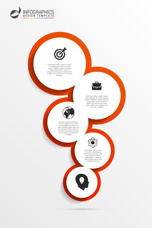 Business infographics. Modern concept with 5 options. Vector illustration Ilustrace