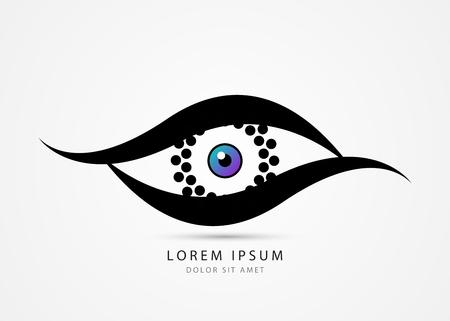 Eye symbol. Security camera concept. Vector illustration.