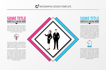 Business concept with Two steps. Infographic design template. Vector illustration