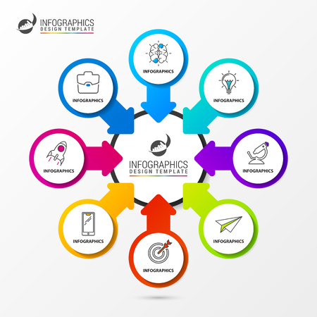 Infographic design template. Organization chart with steps vector illustration