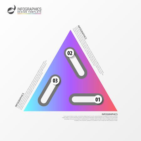 Business triangular infographic design template. Ilustração