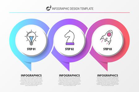 Organizacja czat infografika ilustracja szablon projektu.