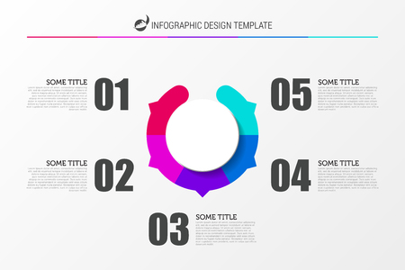 Infographic design template. Business concept with 5 steps. Can be used for workflow layout, diagram, banner, webdesign. Vector illustration