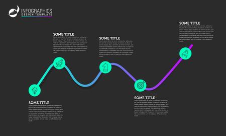 Infographic design template.  イラスト・ベクター素材
