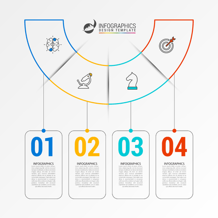 Infographic design template. Creative concept with 4 steps. Can be used for workflow layout, diagram, banner, webdesign. Vector illustration Vektorgrafik