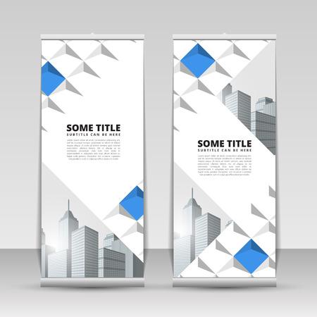 Business roll up. Creative design. Banner template. Vector illustration Ilustração