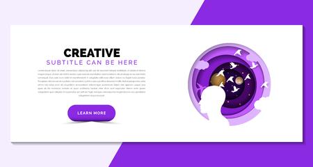idea concept. Creative template in purple style. Vector illustration