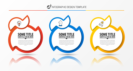 Infographic design template. Creative concept with 3 steps. Can be used for workflow layout, diagram, banner, webdesign. Vector illustration Иллюстрация