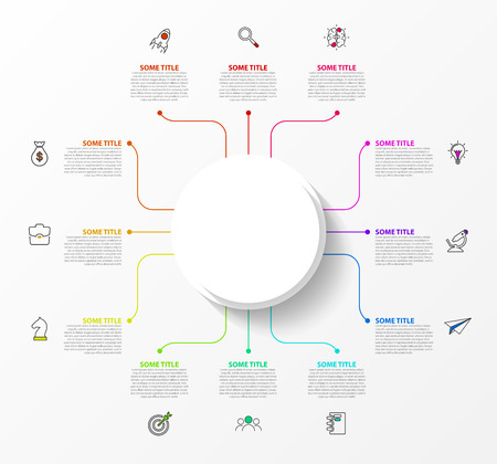 Infographic design template. Creative concept with 12 steps. Can be used for workflow layout, diagram, banner, webdesign. Vector illustration