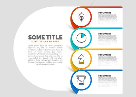 Infographic design template. Creative concept with 4 steps. Can be used for workflow layout, diagram, banner, webdesign. Vector illustration Zdjęcie Seryjne - 128059000