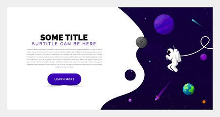 Universe concept. Creative template in purple style. Vector illustration