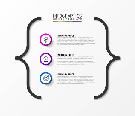 Infographic design template. Creative concept with 3 steps. Can be used for workflow layout, diagram, banner, webdesign. Vector illustration Zdjęcie Seryjne - 130024846