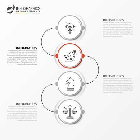 Infographic design template. Creative concept with 4 steps. Can be used for workflow layout, diagram, banner, webdesign. Vector illustration Zdjęcie Seryjne - 129974636
