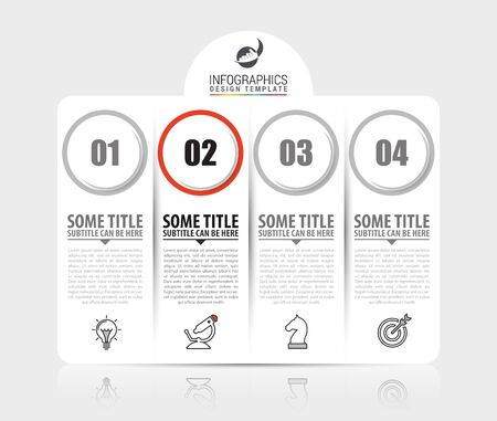 Infographic design template. Creative concept with 4 steps. Can be used for workflow layout, diagram, banner, webdesign. Vector illustration. Ilustracja