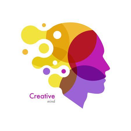 Head. Abstract creative mind. Human face. Vector illustration Vektorové ilustrace