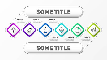 Infographic design template. Creative concept with 6 steps. Can be used for workflow layout, diagram, banner, webdesign. Vector illustration 일러스트