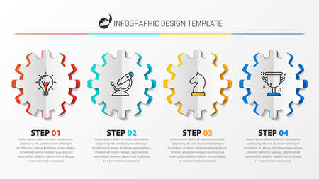Infographic design template. Creative concept with 4 steps. Can be used for workflow layout, diagram, banner, webdesign. Vector illustration Vecteurs