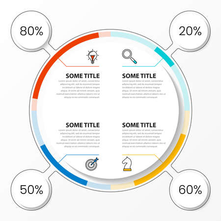 Infographic design template. Creative concept with 4 steps. Can be used for workflow layout, diagram, banner, webdesign. Vector illustration Archivio Fotografico - 155446217