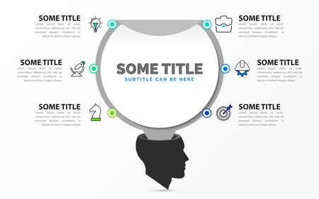 Infographic design template. Creative concept with 6 steps. Can be used for workflow layout, diagram, banner, webdesign. Vector illustration Zdjęcie Seryjne - 156376760