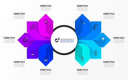 Infographic design template. Creative concept with 10 steps. Can be used for workflow layout, diagram, banner, webdesign. Vector illustration Archivio Fotografico - 156203685