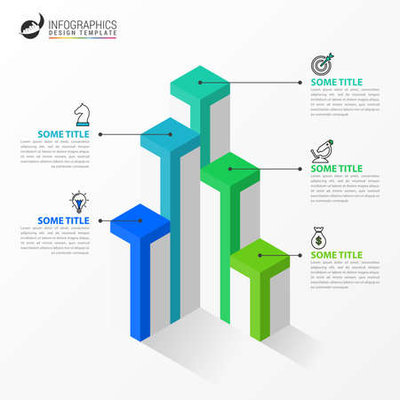 Infographic design template. Creative concept with 5 steps. Can be used for workflow layout, diagram, banner, webdesign. Vector illustration Archivio Fotografico - 156350173