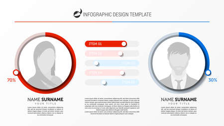 Infographic design template. Creative concept with 2 steps. Can be used for workflow layout, diagram, banner, webdesign. Vector illustration