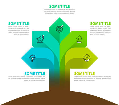 Infographic design template. Creative concept with 5 steps. Can be used for workflow layout, diagram, banner, webdesign. Vector illustration Archivio Fotografico - 156892591