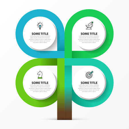 Infographic design template. Creative concept with 4 steps. Can be used for workflow layout, diagram, banner, webdesign. Vector illustration Archivio Fotografico - 157539824
