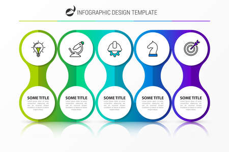 Infographic design template. Creative concept with 5 steps. Can be used for workflow layout, diagram, banner, webdesign. Vector illustration Zdjęcie Seryjne - 157529544