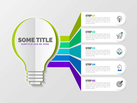 Infographic design template. Creative concept with 5 steps. Can be used for workflow layout, diagram, banner, webdesign. Vector illustration Zdjęcie Seryjne - 157661746