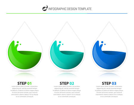 Infographic design template. Creative concept with 3 steps. Can be used for workflow layout, diagram, banner, webdesign. Vector illustration Zdjęcie Seryjne - 157668341