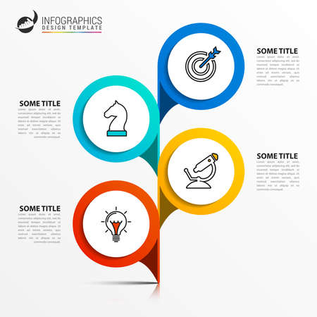 Infographic design template. Creative concept with 4 steps. Can be used for workflow layout, diagram, banner, webdesign. Vector illustration Zdjęcie Seryjne - 158003217