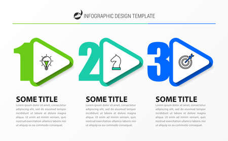 Infographic design template. Creative concept with 3 steps. Can be used for workflow layout, diagram, banner, webdesign. Vector illustration Zdjęcie Seryjne - 158363638
