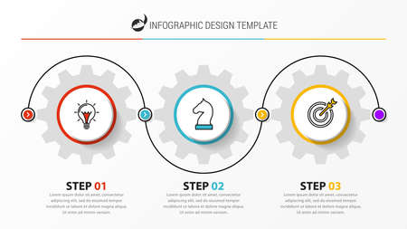 Infographic design template. Creative concept with 3 steps. Can be used for workflow layout, diagram, banner, webdesign. Vector illustration Zdjęcie Seryjne - 158491860