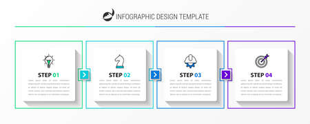 Infographic design template. Creative concept with 4 steps. Can be used for workflow layout, diagram, banner, webdesign. Vector illustration Zdjęcie Seryjne - 158633548