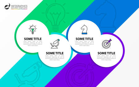 Infographic design template. Creative concept with 4 steps. Can be used for workflow layout, diagram, banner, webdesign. Vector illustration Zdjęcie Seryjne - 158909775