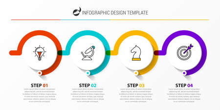 Infographic design template. Creative concept with 4 steps. Can be used for workflow layout, diagram, banner, webdesign. Vector illustration Zdjęcie Seryjne - 158909811