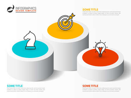 Infographic design template. Creative concept with 3 steps. Can be used for workflow layout, diagram, banner, webdesign. Vector illustration Zdjęcie Seryjne - 159057467