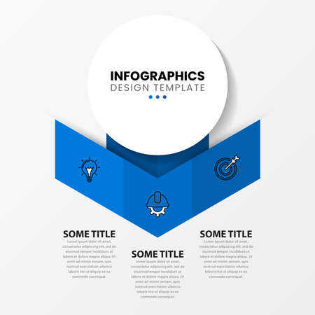 Infographic design template. Creative concept with 3 steps. Can be used for workflow layout, diagram, banner, webdesign. Vector illustration Ilustracja