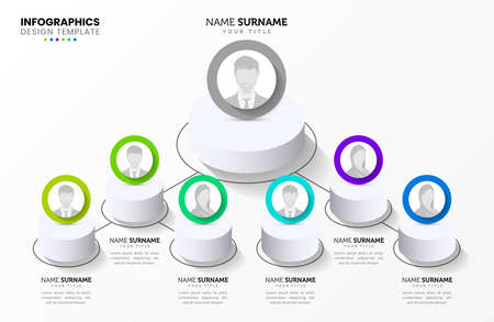 Infographic design template. Creative concept with 6 steps. Can be used for workflow layout, diagram, banner, web design. Vector illustration Zdjęcie Seryjne - 159361351
