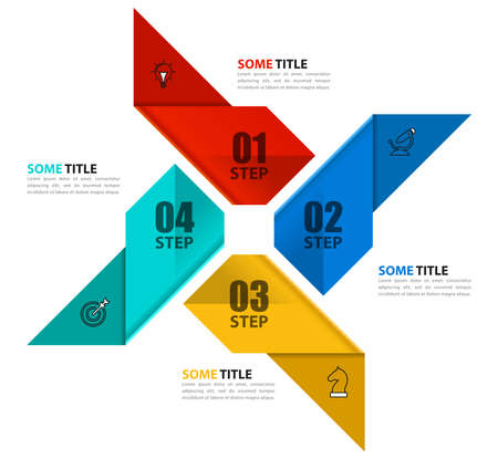 Infographic design template. Creative concept with 4 steps. Can be used for workflow layout, diagram, banner, web design. Vector illustration Zdjęcie Seryjne - 159677031