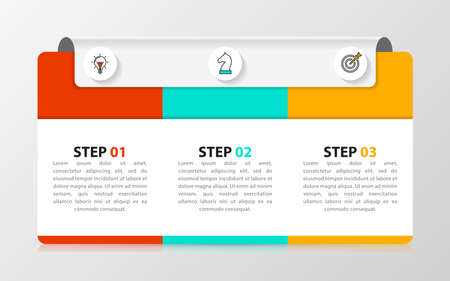Infographic design template. Creative concept with 3 steps. Can be used for workflow layout, diagram, banner, web design. Vector illustration Zdjęcie Seryjne - 159677076