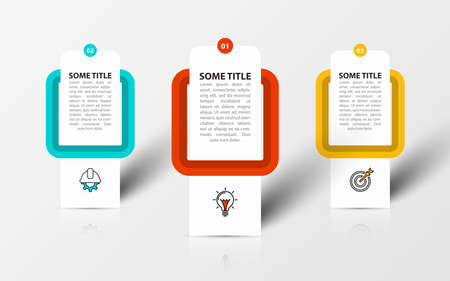 Infographic design template. Creative concept with 3 steps. Can be used for workflow layout, diagram, banner, webdesign. Vector illustration.