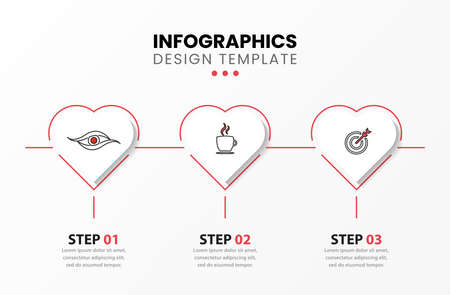 Infographic design template. Creative concept with 3 steps. Can be used for workflow layout, diagram, banner, webdesign. Vector illustration 向量圖像
