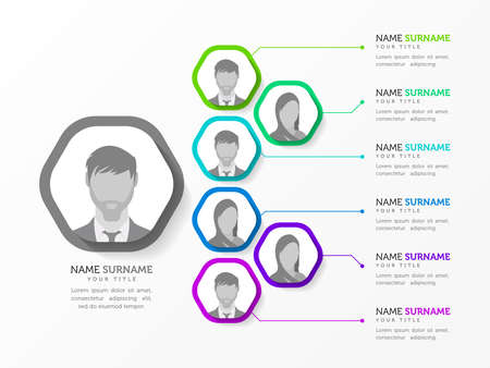Infographic design template. Organization chart. Business hierarchy. Vector illustration