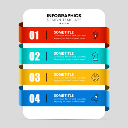 Infographic design template. Creative concept with 4 steps. Can be used for workflow layout, diagram, banner, webdesign. Vector illustration