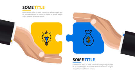 Infographic design template. Agreement between two traders. Vector illustration