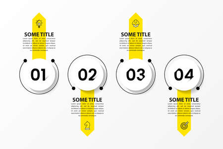Infographic design template. Creative concept with 4 steps. Can be used for workflow layout, diagram, banner, web design. Vector illustration.