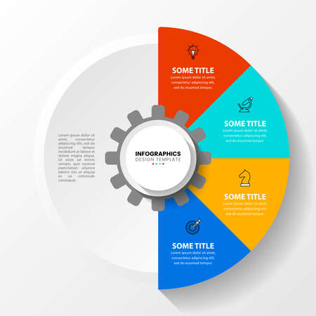 Infographic design template. Creative concept with 4 steps. Can be used for workflow layout, diagram, banner, web design. Vector illustration